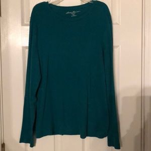Teal Long Sleeved Eddie Bauer Shirt